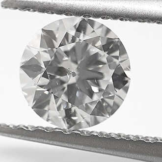 Picture of Lab created Diamond,0.56 Carats, Round Diamond.Very Good Cut.D SI1 Certified by CGL
