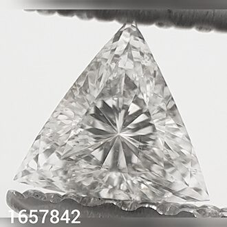 Picture of 0.15 Carats, Triangle Diamond with Very Good Cut, F Color, VS2 Clarity and Certified By CGL