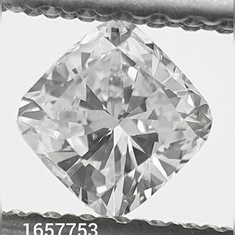 Picture of 0.35 Carats, Cushion natural diamond with Ideal Cut, D Color, VS2 Clarity and Certified By CGL