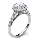 Picture of Designers,Vintage Halo 0.32 Cts side diamonds engagement ring
