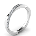 Picture of Twisting wedding band with diamonds