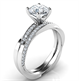 Picture of Twisting bridal set. 0.28 carats total