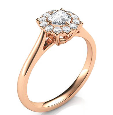 Preset Engagement ring with 0.30 center and 0.15 sides