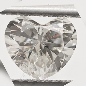 Picture of 1.01 Carats, Heart natural diamond  with Very-Good cut, H SI1 Certified by CGL
