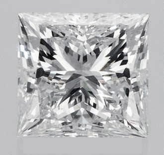 Picture of 2.07 Carats, princess diamond with ideal cut, D color, vs1 clarity and certified by IGL