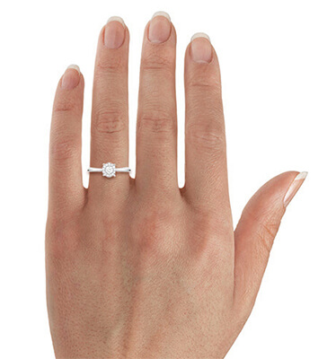 Cushion Pre Set Delicate Halo engagement ring 0.40 carat total