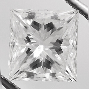 Picture of 2.07 Carats, Princess natural diamond with ideal cut, G color, VS2 clarity and certified by CGL
