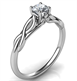 Picture of Leaf motif infinity Solitaire engagement ring, For smaller diamonds