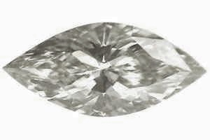 Picture of 0.61 Carats, Marquise Diamond with Very Good Cut,K VS1 Clarity and Certified By CGL