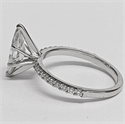 Picture of Marquise engagement ring with common prongs set side diamonds 0.20 carat