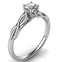 Picture of Preset 0.24 carat Leaf motif infinity Solitaire engagement ring