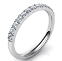 Picture of 1.9 mm wedding band, half way 0.26 carat diamonds