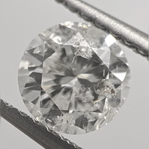 Picture of 0.72 Carats, Round Natural Diamond with Ideal Cut, G Color, I1 Clarity and Certified By CGL