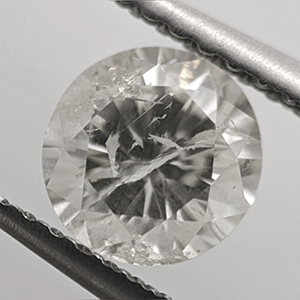 Picture of 0.85 Carats,  Round Diamond, Very Good Cut, I color I1 clarity and  Certified by CGL