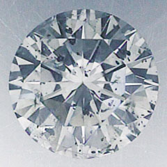 Picture of 1.19 carat Round Natural Diamond H SI2,Ideal-Cut, certified by CGL