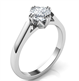 Picture of 2 mm low profile solitaire engagement ring