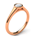 Picture of Rose Gold Cheap bezel set sleek engagement ring