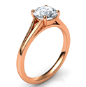 Picture of Rose Gold Split band Solitaire engagement ring for all diamond shapes