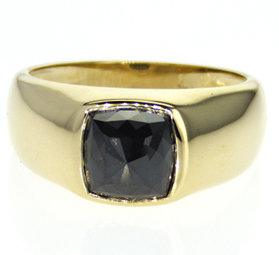 Men Signet ring mounting for larger stones 2 to 5 carats