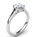 Picture of  Low Profile Split band Solitaire engagement ring for all diamond shapes-Yolanda