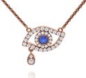 Picture of Evil eye pendant, 14k White,Yellow or Rose Gold