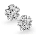Picture of 1/2 carat diamond Hearts Flower earring studs