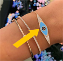 Picture of Eye bracelet with diamonds-Choose your enamel color
