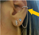 Picture of Diamonds and enemal earring set