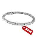Picture of 6.75 carats Tennis Bracelet in 14k Gold, White, Rose or Yellow colors.