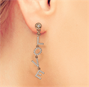 Picture of L O V E one side earring, 0.40carat