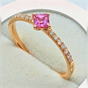 Picture of 1/3 Carat pink Sapphires and diamonds ring
