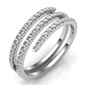 Picture of Spiral ring with 0.45 carat diamonds