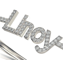 Picture of Your name with diamonds bangle. 1 carat high quality diamonds