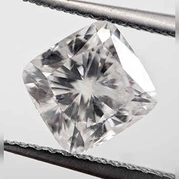 Picture of 1.50 carat Cushion natural diamond D VS2, ideal Cut