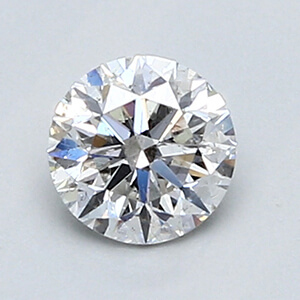 Picture of 0.46 Carats, Round Diamond with Ideal Cut, D Color, SI1 Clarity and Certified By EGL