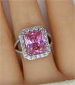 Picture of 10 carat pink Spinnel and 1.25 side diamonds cocktail ring