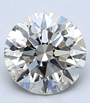 Picture of 0.43 Carats, Round Diamond with Very Good Cut, G Color, VVS2 Clarity and Certified By CGL