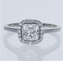 Picture of Ready to Ship.1.02 D VS2 Princess solitaire engagement ring, In 14k White Yellow and Rose gold.