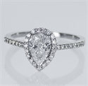 Picture of Ready to ship, 0.78 carat D SI1+0.30 sides, in 14k White Gold