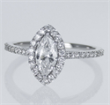 Picture of Ready to ship, 0.56 carat Marquise diamond D VS2 +0.35 sides , engagement ring,  in 14k White Gold