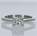 Picture of Ready to Ship.0.90 F SI1 Oval solitaire engagement ring, In 14k White gold.
