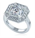 Picture of Pippa Middleton engagement ring with diamonds and center Moissanite