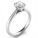 Picture of Ready to ship, 0.70 carat Round diamond D SI1 Solitaire engagement ring, in 14k White Gold