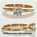Picture of Ready to ship 0.71 carat F VS2 Ideal-Cut. In 14k white Gold