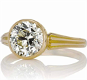 Picture of Low Profile Vintage replica bezel set engagement ring for rounds, Pears and Ovals