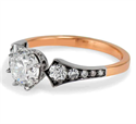 Picture of Low Profile Vintage replica engagement ring for rounds, Pears and Ovals