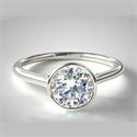 Picture of Bezel solitaire engagement ring for all shapes