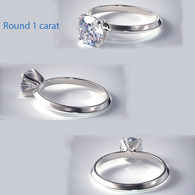 2mm knife edge engagement ring, comfort fit