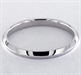 Picture of 2mm knife edge wedding ring, comfort fit