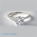 Picture of Engagement ring,open pave set 0.20 carat, for all shapes